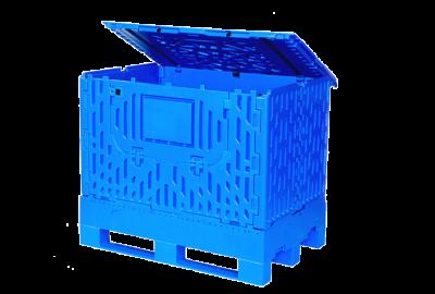 location de caisse palette plastique avec couvercle intégré