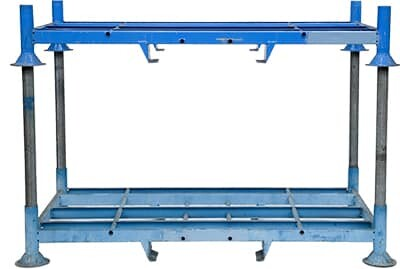 Rack de stockage mobile double