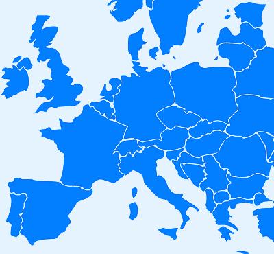 Carte Europe NER France