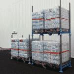 Rack de stockage double en acier galvanisé
