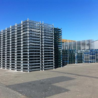Racks de stockage mobiles galvanisés pour stockage extérieur