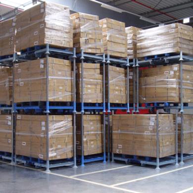 Rack de rangement mobile double en location