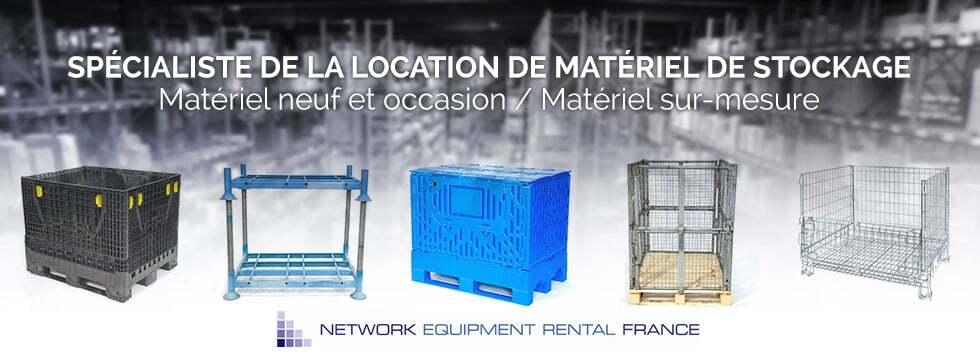 NER France fournisseur spécialiste de la location de matériel de stockage et de rangement mobile