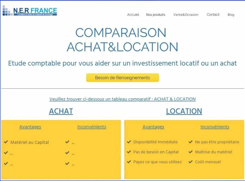 Dossier Achat location Ner-France
