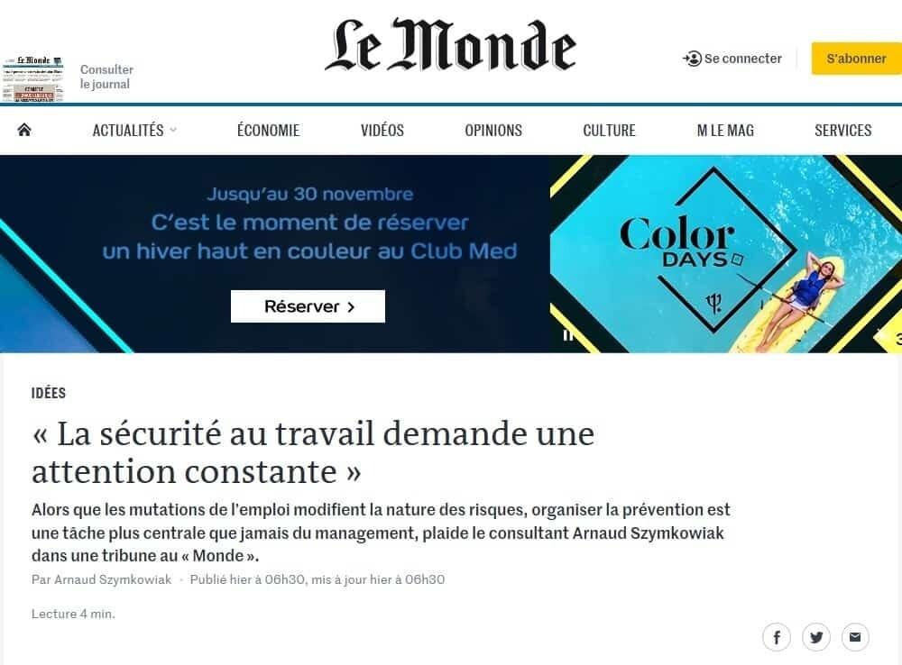 Sécurité au travail Ner-France